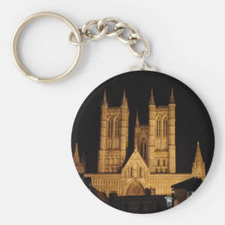 Lincoln Cathedral Basic Round Button Key Ring