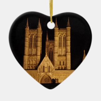 Lincoln Cathedral Ceramic Heart Decoration