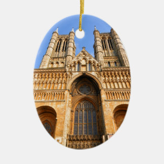 Lincoln cathedral ceramic oval decoration