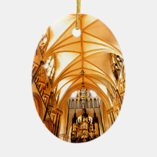 Lincoln cathedral christmas ornament