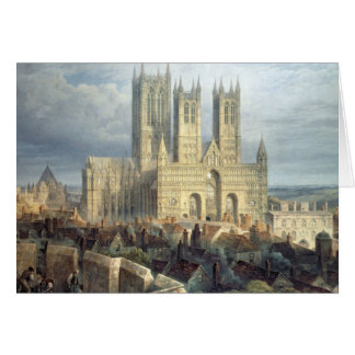 Lincoln Cathedral from the North West, c.1850 Card
