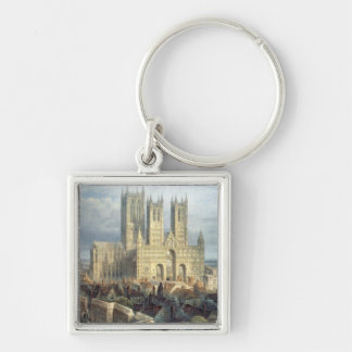 Lincoln Cathedral from the North West, c.1850 Key Ring