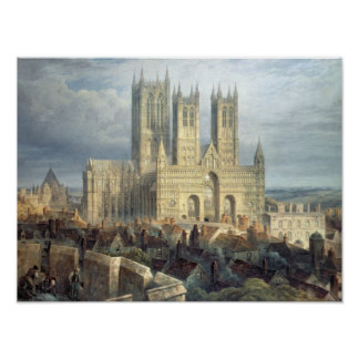 Lincoln Cathedral from the North West c 1850 Print