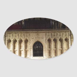 Lincoln Cathedral Oval Sticker
