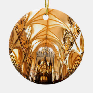 Lincoln cathedral round ceramic decoration
