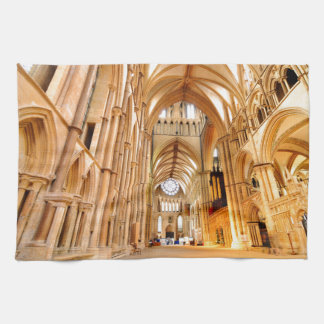 Lincoln cathedral tea towel
