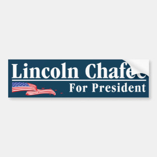 """Lincoln Chafee For President Bumper Sticker"