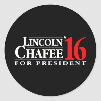 Lincoln Chafee For President Round Sticker