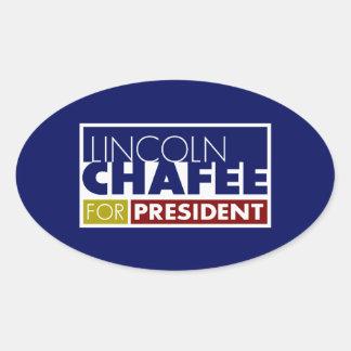 Lincoln Chafee for President V1 Oval Sticker