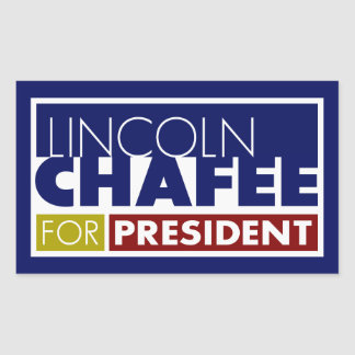Lincoln Chafee for President V1 Rectangular Sticker