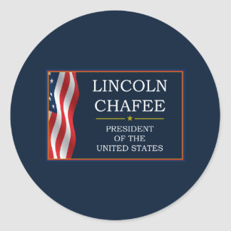 Lincoln Chafee for President V3 Round Sticker