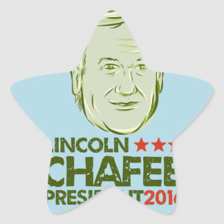Lincoln Chafee President 2016 Star Sticker