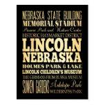Lincoln City of Nebraska Typography Art