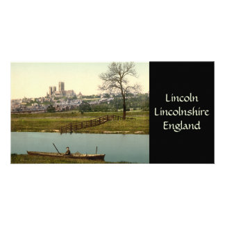Lincoln City View, Lincolnshire, England Photo Card Template