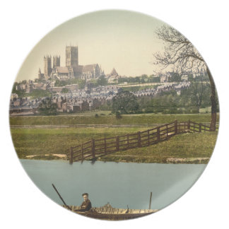 Lincoln City View, Lincolnshire, England Plate