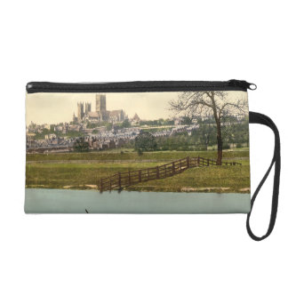 Lincoln City View, Lincolnshire, England Wristlet Clutch