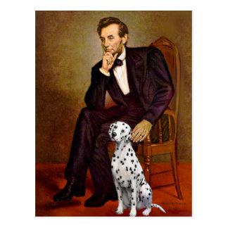 Lincoln - Dalmatian Postcard