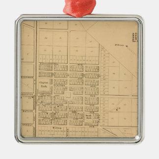 Lincoln Delaware Silver-Colored Square Decoration