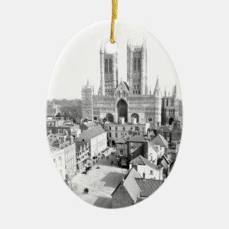 Lincoln, England Ceramic Oval Decoration