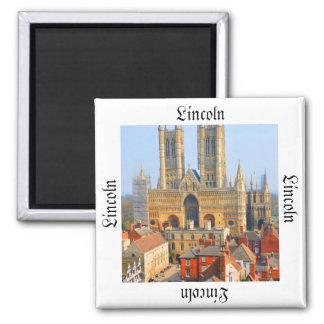 Lincoln, England Square Magnet