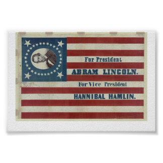 Lincoln For President 1860 Print