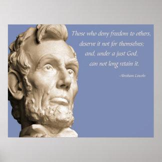 Lincoln God Poster