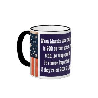 Lincoln & God Ringer Mug