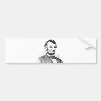 Lincoln in 3D! Bumper Sticker