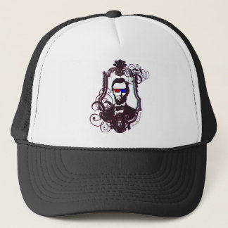 Lincoln in 3D Glasses Trucker Hat
