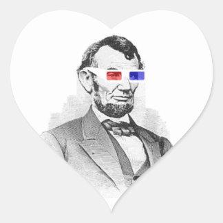 Lincoln in 3D! Heart Sticker