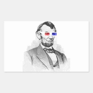 Lincoln in 3D! Rectangular Sticker