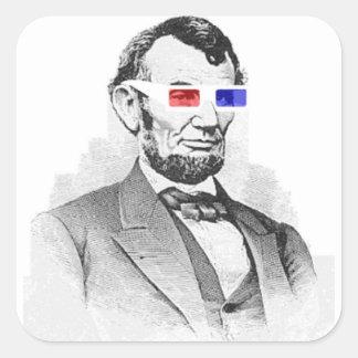 Lincoln in 3D! Square Sticker
