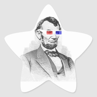 Lincoln in 3D! Star Sticker