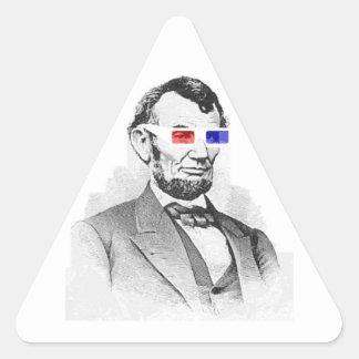 Lincoln in 3D! Triangle Sticker