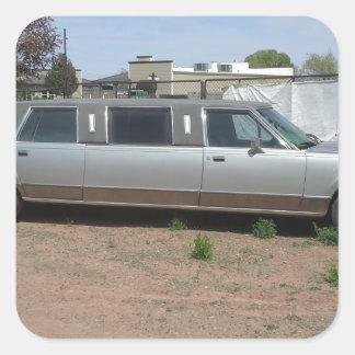 Lincoln Limousine Square Sticker