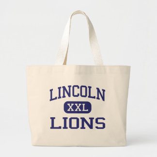 Lincoln - Lions - High - Jersey City New Jersey Jumbo Tote Bag