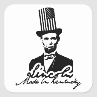 Lincoln. Made in Kentucky Edition Square Sticker