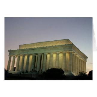 Lincoln Memeorial night scene Greeting Card