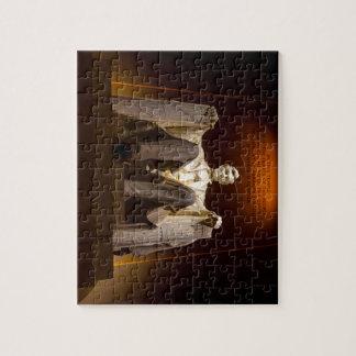 Lincoln Memorial At Night - Washington D.C. Puzzle