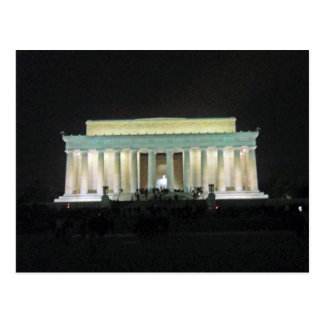 Lincoln Memorial at Night Washington DC 002 Postcard