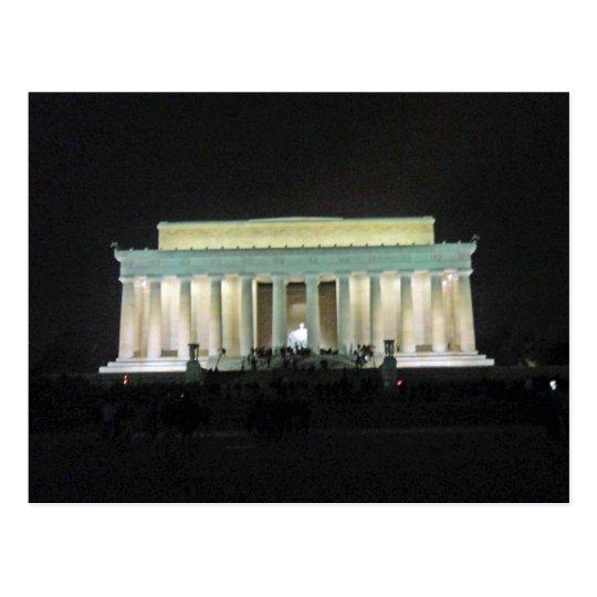Lincoln Memorial at Night Washington DC 002 Postcard
