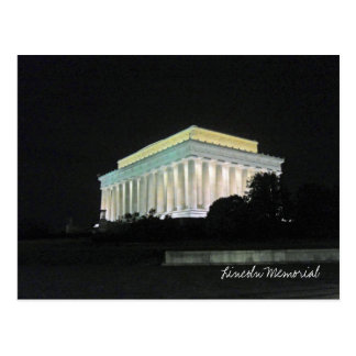 Lincoln Memorial at Night Washington DC Postcard