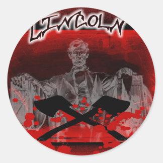 Lincoln Memorial-Axes Sticker