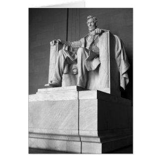 Lincoln Memorial B&W Greeting Card
