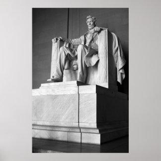 Lincoln Memorial B&W Poster