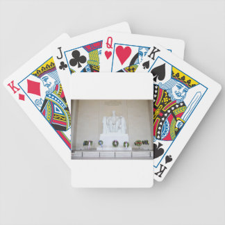 Lincoln Memorial. Bicycle Poker Cards