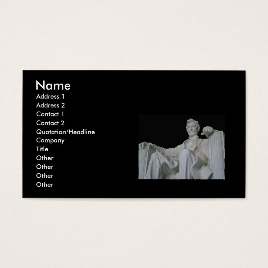 Lincoln Memorial Business Cards