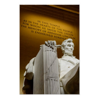 Lincoln Memorial by Diacritical Poster