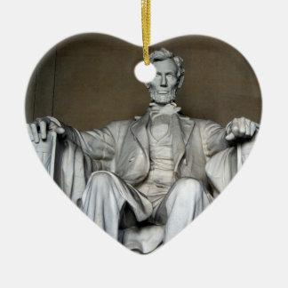 LINCOLN MEMORIAL CERAMIC HEART DECORATION