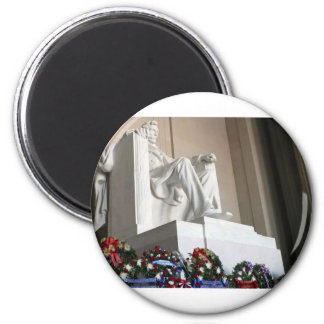 lincoln memorial Lincoln Status 6 Cm Round Magnet